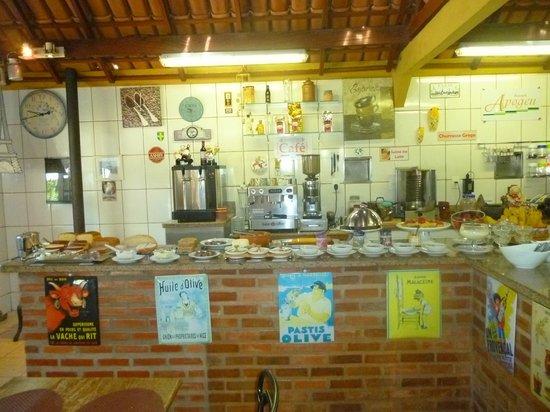 Chez Domaine - Hospedagem Rural Orgânica: restaurante café da manhã