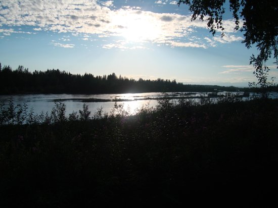 Susitna River Lodging: 10:30pm view - beautiful