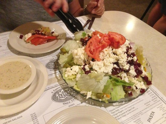 "Luigi's Restaurant & Pizzeria: The Luigi's ""Greek"" salad - this is a full portion, they also serve half."