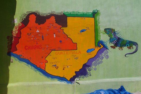 Iguana Hostel: Wall map