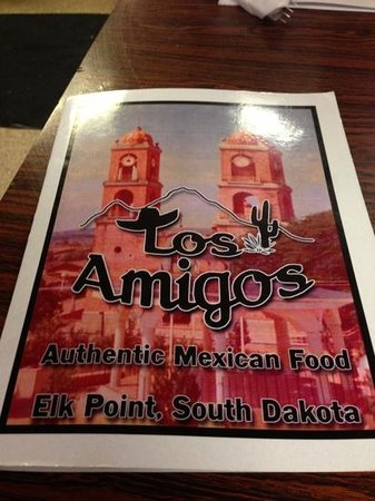 Los Amigos Mexican Restaurant Bar & Casino: cover of the menu but everything is amazing