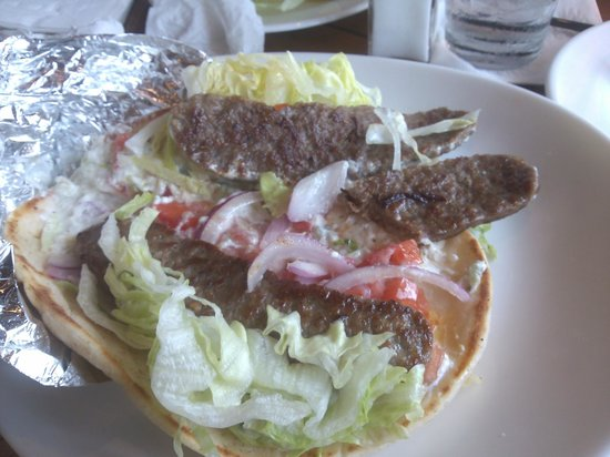 Athena By The Sea : Would you call this a Gyro sandwich?