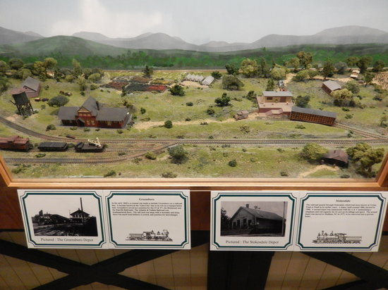 Mount Airy Museum of Regional History : A section of the model railroad