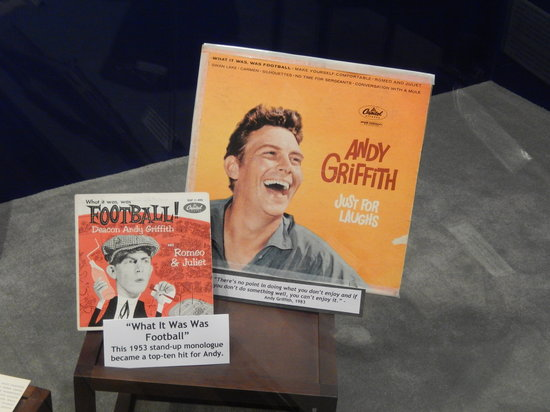 Mount Airy Museum of Regional History : Part of the exhibit on Andy Griffith