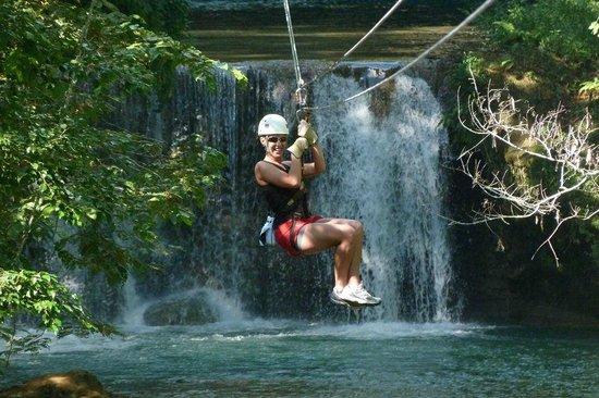 Antsman Tour Jamaica: Zipline over the YS water falls