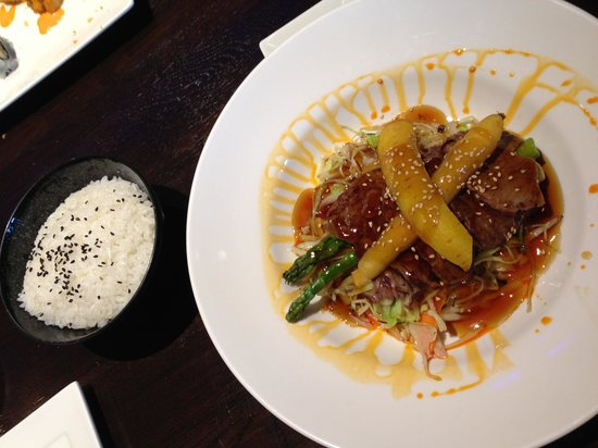 Bluetail Sushi Bistro: Beef teriyaki and rice