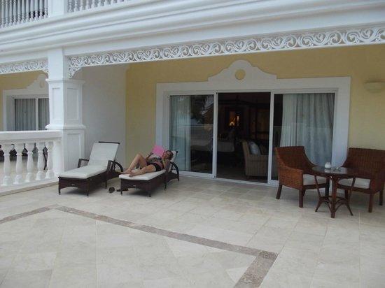 Luxury Bahia Principe Cayo Levantado Don Pablo Collection: la terrasse de notre chambre
