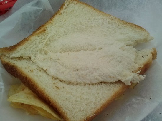 Wright's Dairy Rite: I think they forgot about 1/2 of my sandwich.