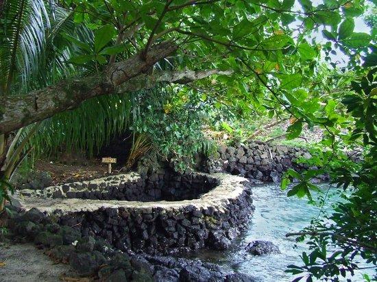 Lusia's Lagoon Chalets: Rock pool