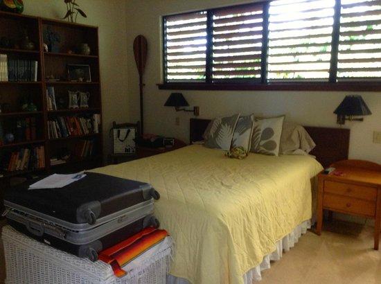 Hale Ikena Nui: stanza gialla, annesso bagno e cabina armadio
