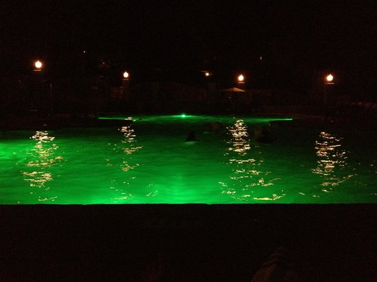 Chateau Elan Winery And Resort: The pool at night