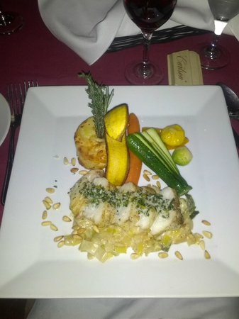 Le Grand Lodge Mont-Tremblant: Monk fish dish at Chez Boravige