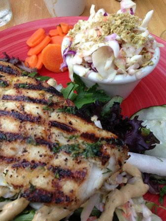 Escape Fish Bar: Grilled Hallibut...Yum!