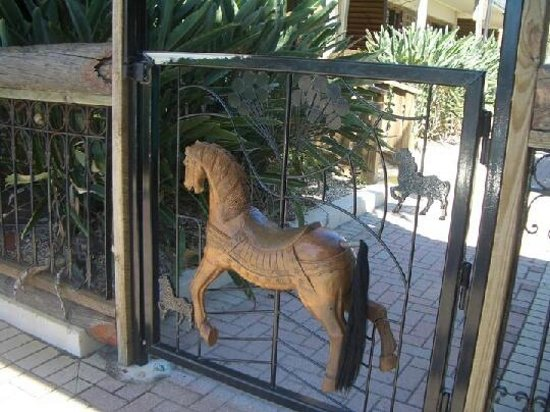 Driftwood Resort: even the gates are creatively made!