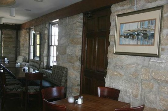 O.C. White's Seafood & Spirits: Historic building with a cozy atmosphere inside.