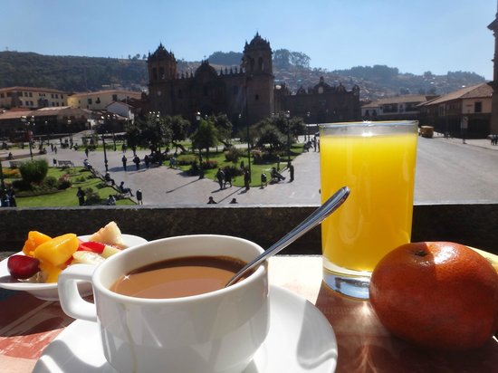 Plaza de Armas Cusco Hotel: Awesome view and nice breakfast