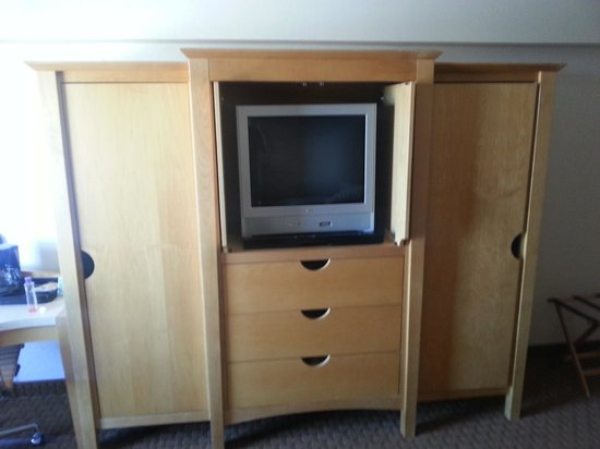 "The Avalon Hotel and Conference Center: No flat screen in this ""superior"" room that costs additional"