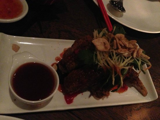 Mamasan: Crispy beef ribs with pomegranate sauce