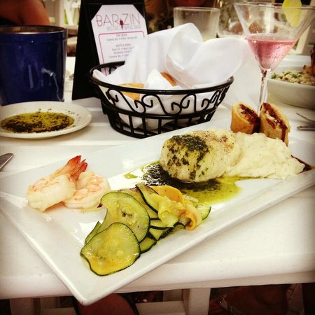 BarZin Bistro & Wine Bar : who doesn't love fresh seafood?! sea bass, lobster and shrimp