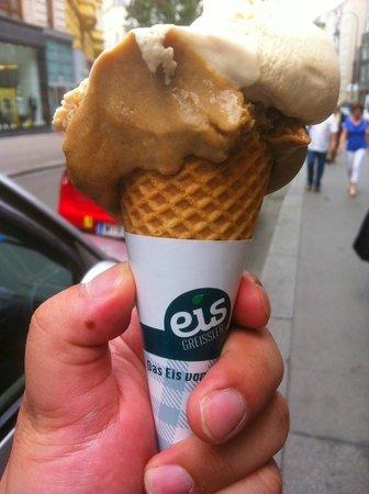 Eis Greissler: Tasty ice cream cone!