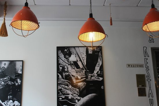 Scandic Malmen : In the waiting lounge: the lamp shades caught my attention