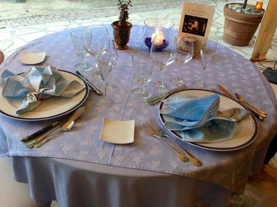 La Bastide des Princes : Dinner Table Setting