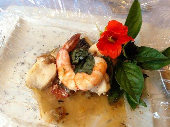 La Bastide des Princes : Seafood prepared sous vide