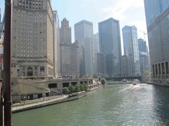 view from hotel picture of sheraton grand chicago. Black Bedroom Furniture Sets. Home Design Ideas