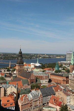 Radisson Blu Latvija Conference & Spa Hotel: View of Riga