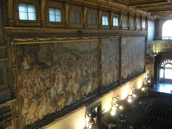 Sala Dei 500 Firenze.La Sala Dei 500 Bilde Av Palazzo Vecchio I Firenze