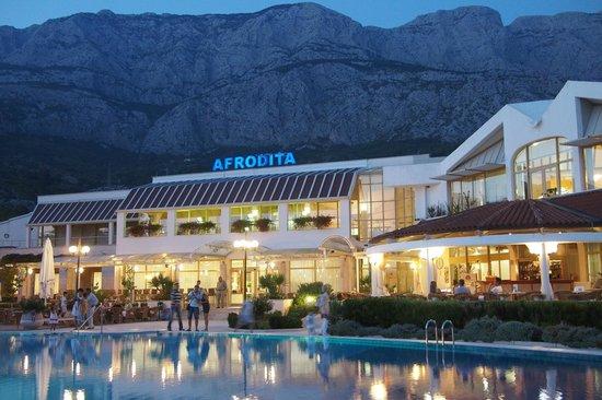 Bluesun Resort Afrodita: Hotel mit Biokovo Gebirge