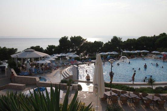 Bluesun Resort Afrodita: Blick von der Hotelterrasse