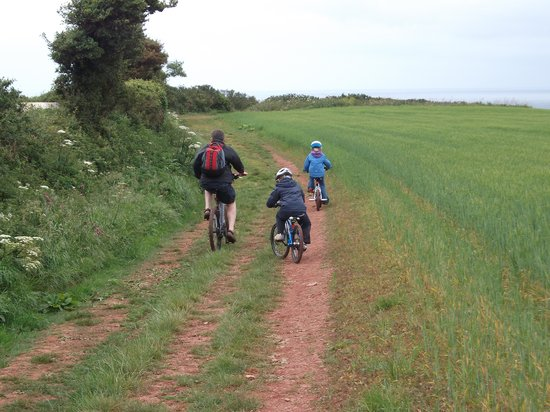 Bolberry House Farm Caravan and Camping Farm: Path to Hope Cove
