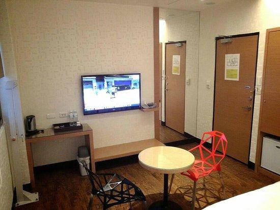 E-Coast Star Hotel: 造型椅&電視