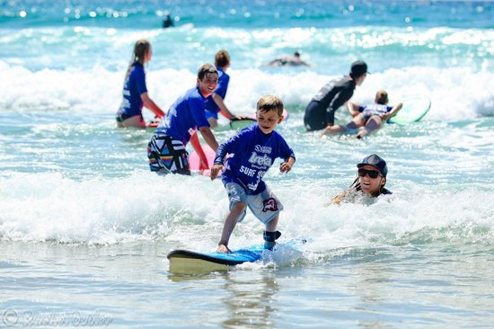 Coolum Surfing School: Our beginner surf lessons is available every day from 9 to 11am. Great for all ages!