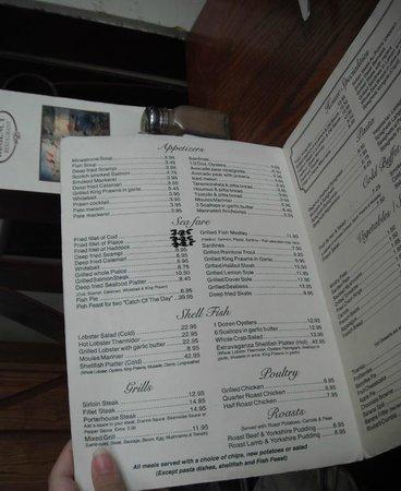 menu picture of regency restaurant brighton tripadvisor. Black Bedroom Furniture Sets. Home Design Ideas