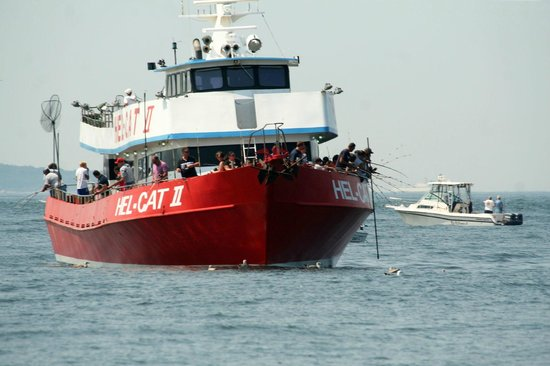 "Groton, CT: Hel-Cat II Fishing ""Head"" Boat"