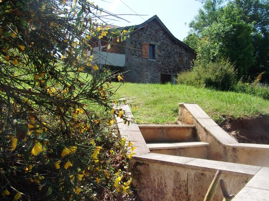 Tarn-et-Garonne, Francja: Grassy slope from house down to pool