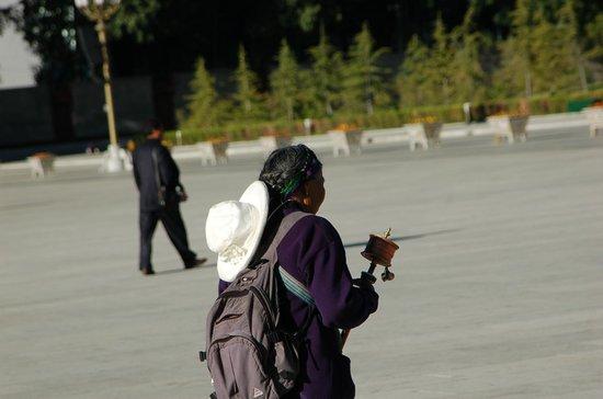 Tibet, China: Local prayer