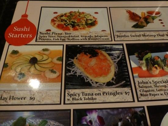 Alpha Fusion: amusing menu options