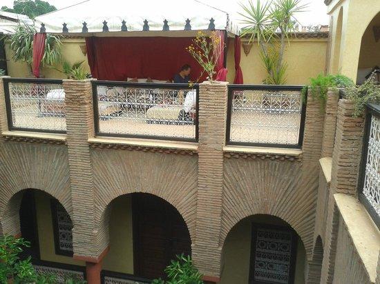 Riad Samsli, Dachterrasse und Innenhof