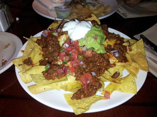 Legends New York City: Nachos Special Beef Tacos de Carnitas