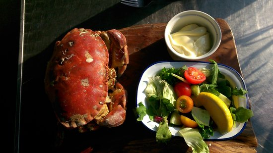 Hive Beach Cafe: Fresh local brown crab