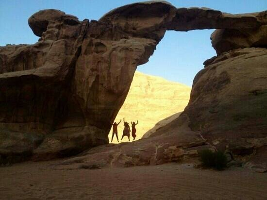 Bedouin Directions: jump in the arch! Wadi Rum