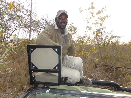 """Simbambili Game Lodge: """"Mamps"""" our wonderful tracker"""
