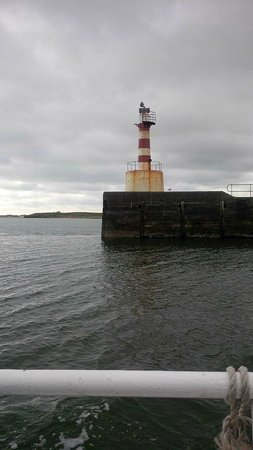 Puffin Cruises: Lighthouse at the entrance to Amble Harbour