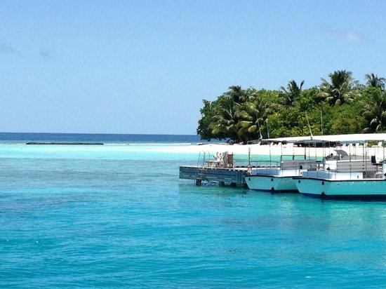 Kuramathi Island Resort: 1st View of island on entrance