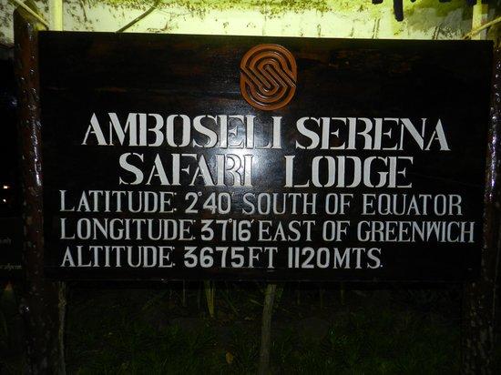 Amboseli Serena Safari Lodge: ingresso