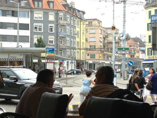 Confiserie Cafe Bauer & Suan Long : street view from inside