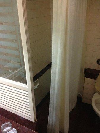 The Renai Cochin: The super narrow shower area in the bathroom!